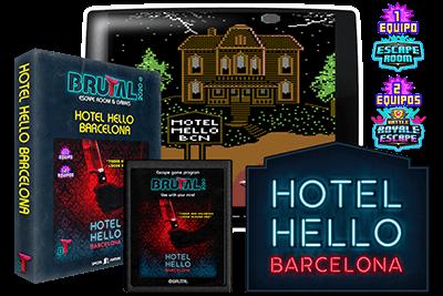 Portada cartucho arcade atari hotel hello barcelona