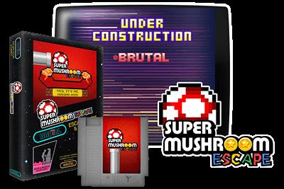 portada cartucho arcade nes super mushroom