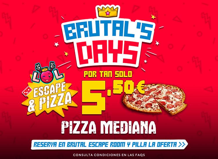 Escape Room con Pizza por tan solo 5,50€